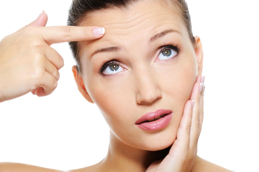 Arrugas faciales de expresión sin importar la edad