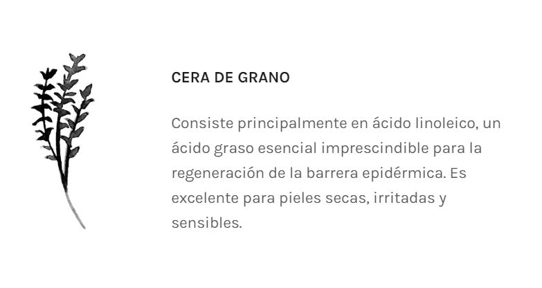 Cera de grano Spent, en Twelve Beauty Cosmética Natural