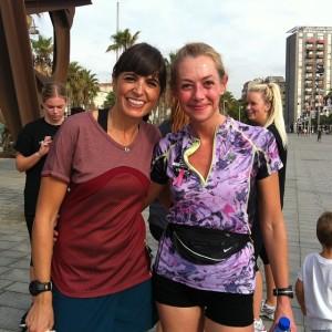 Con Cristina en el evento #mujerescorren en Barcelona