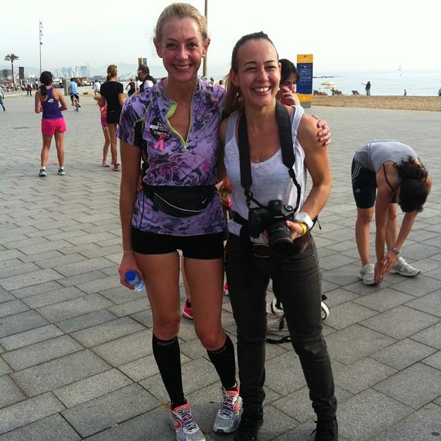 Con Evaeme, excelente reportera gráfica del grupo Mujeres que corren, runner, deportista, patinadora y  excelente amiga!!!!!