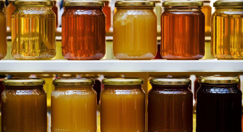miel cruda en variedades